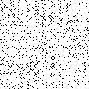 An Ulam spiral consisting of the first 360,000 natural numbers.